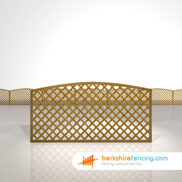 Garden Convex Diamond Trellis Fence Panels 3ft x 6ft brown