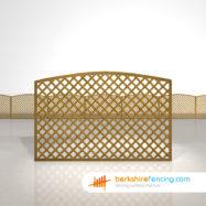 Designer Convex Diamond Trellis Fence Panels 4ft x 6ft brown