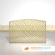 Designer Convex Diamond Trellis Fence Panels 4ft x 6ft natural