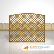 Designer Convex Diamond Trellis Fence Panels 5ft x 6ft brown
