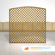 Convex Diamond Trellis Fence Panels 6ft x 6ft brown