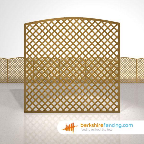 Convex Diamond Trellis Fence Panels 6ft x 6ft brown