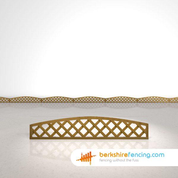 Convex Heavy Diamond Trellis Fence Panels 1ft x 6ft brown