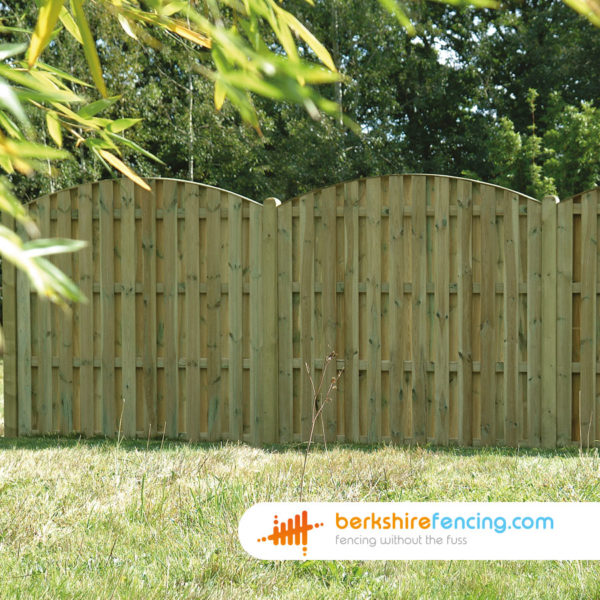 Double Sided Picket Fence Panel (5) 90cm H x 180cm W brown