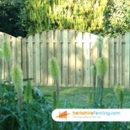 Double Sided Picket Fence Panel (4) 90cm H x 180cm W brown