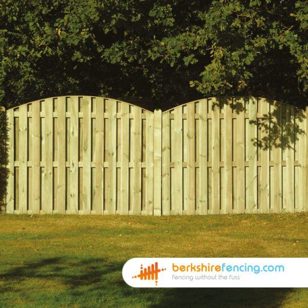 Double Sided Picket Fence Panels 3ft X 6ft Natural