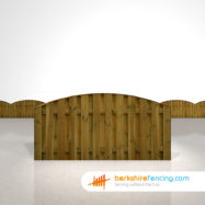Double Sided Picket Fence Panels 3ft x 6ft brown