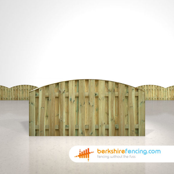 Garden Double Sided Picket Fence Panels 3ft x 6ft natural