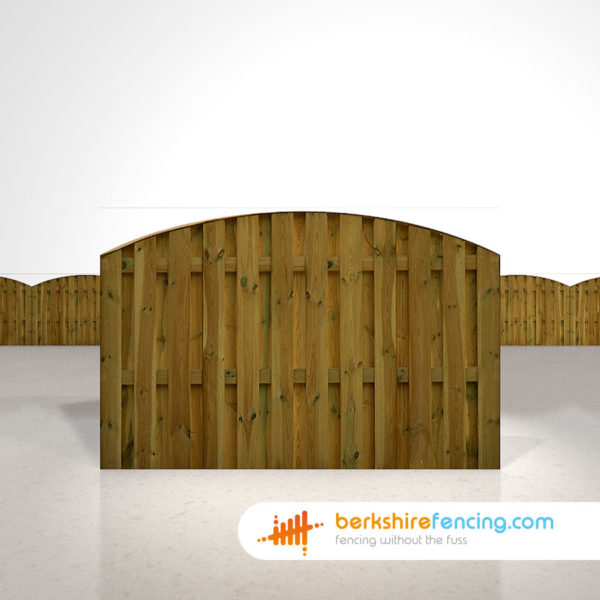 Designer Double Sided Picket Fence Panels 4ft x 6ft brown