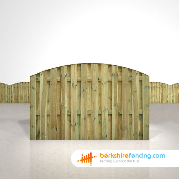 Double Sided Picket Fence Panels 4ft x 6ft natural