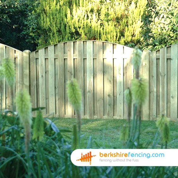 brown Double Sided Picket Fence Panel 3ft x 6ft
