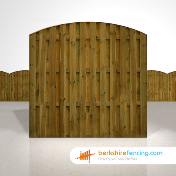 Designer Double Sided Picket Fence Panels 6ft x 6ft brown