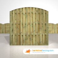 Double Sided Picket Fence Panels 6ft x 6ft natural