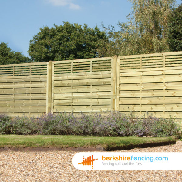 Elite Slatted Top Fence Panel (5) 90cm H x 180cm W brown