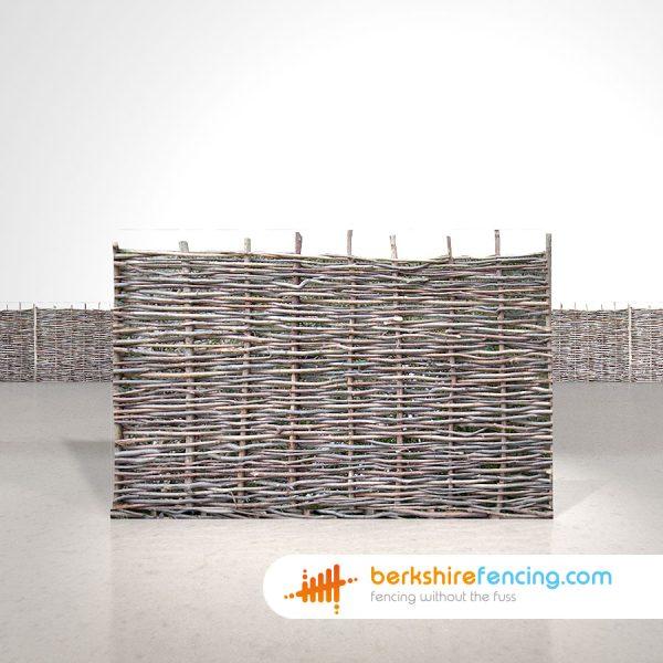 Exclusive Hazel Hurdles Fence Panels 4ft x 6ft natural