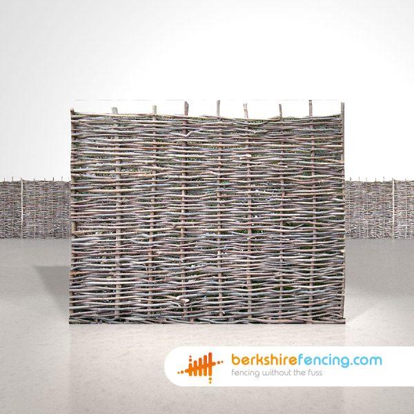 Exclusive Hazel Hurdles Fence Panels 5ft x 6ft natural