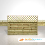 Horizontal Lattice Top Fence Panels 4ft x 6ft natural