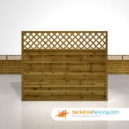 Horizontal Lattice Top Fence Panels 5ft x 6ft brown