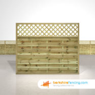 Horizontal Lattice Top Fence Panels 5ft x 6ft natural