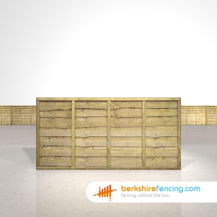 Lap Fence Panels 3ft X 6ft Natural Berkshire Fencing