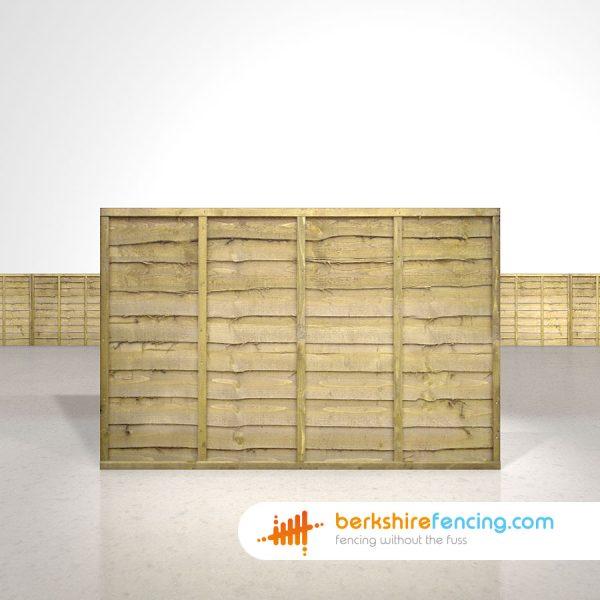 Exclusive Lap Fence Panels 4ft x 6ft natural