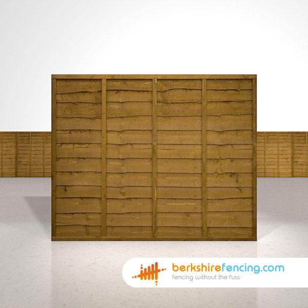 Designer Lap Fence Panels 5ft x 6ft brown