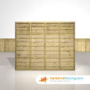 Exclusive Lap Fence Panels 5ft x 6ft natural