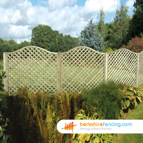 Pressure Treated Omega Diamond Trellis Fence Panels 3ft x 6ft