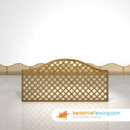 Exclusive Omega Diamond Trellis Fence Panels 3ft x 6ft brown