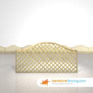 Exclusive Omega Diamond Trellis Fence Panels 3ft x 6ft natural