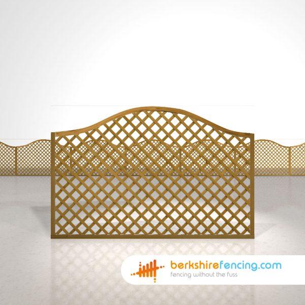 Garden Omega Diamond Trellis Fence Panels 4ft x 6ft brown