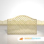 Omega Diamond Trellis Fence Panels 4ft x 6ft natural