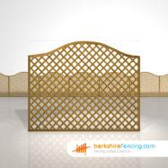Omega Diamond Trellis Fence Panels 5ft x 6ft brown