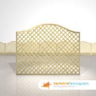 Exclusive Omega Diamond Trellis Fence Panels 5ft x 6ft natural