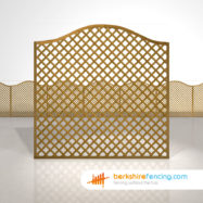 Designer Omega Diamond Trellis Fence Panels 6ft x 6ft brown