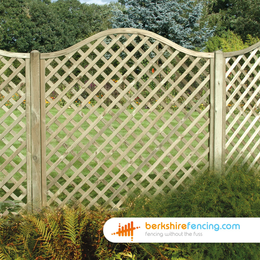 Omega Diamond Trellis Fence Panels 3ft X 6ft Brown