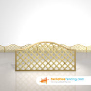 Exclusive Omega Lattice Fence Panels 3ft x 6ft natural