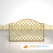 Designer Omega Lattice Fence Panels 4ft x 6ft natural