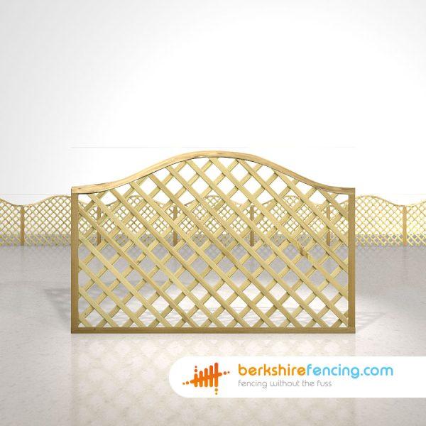 Designer Omega Lattice Fence Panels 4ft x 6ft natural