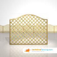 Designer Omega Lattice Fence Panels 5ft x 6ft natural