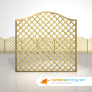 Garden Omega Lattice Fence Panels 6ft x 6ft natural