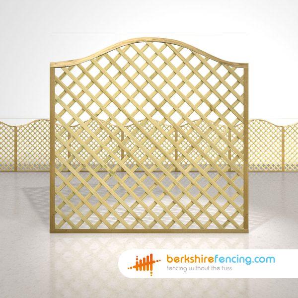 Garden Omega Lattice Fence Panels 6ft x 6ft natural