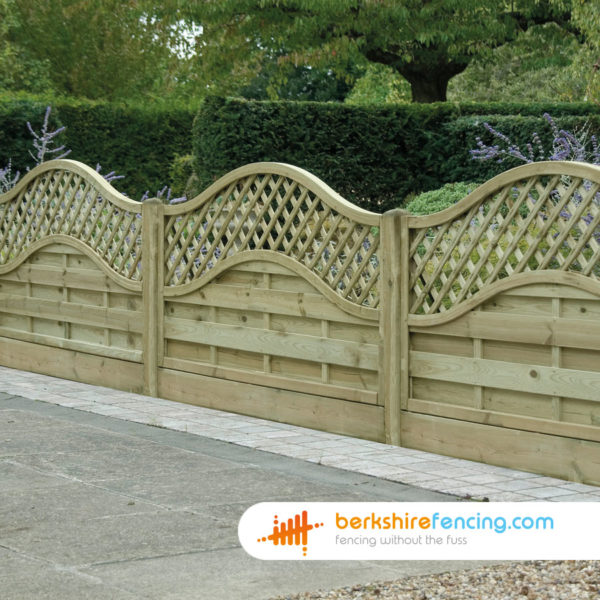 Omega Lattice Top Fence Panel (5) 90cm H x 180cm W brown