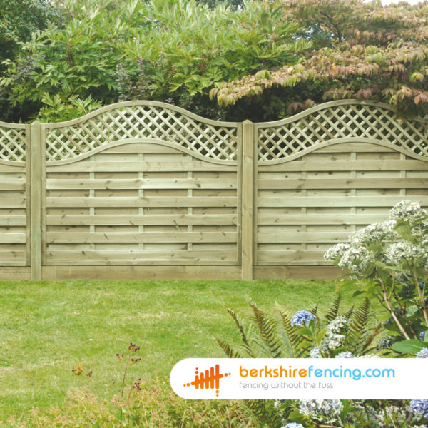 Pressure Treated Omega Lattice Top Fence Panels 3ft x 6ft