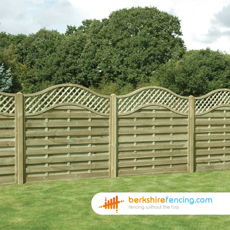 Omega Lattice Top Fence Panels 6ft X 6ft Brown Berkshire