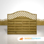 Omega Lattice Top Fence Panels 5ft x 6ft brown
