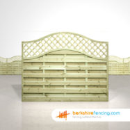 Exclusive Omega Lattice Top Fence Panels 5ft x 6ft natural