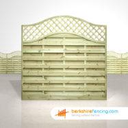 Garden Omega Lattice Top Fence Panels 6ft x 6ft natural