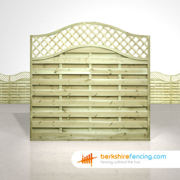 Garden Omega Lattice Top Fence Panels 6ft x 6ft natural