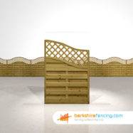 Exclusive Omega Wing Fence Panels 4.5ft x 3ft brown